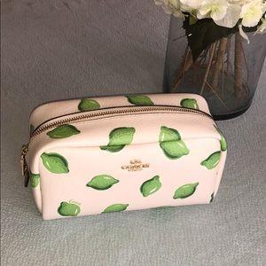 Coach small boxy cosmetic case